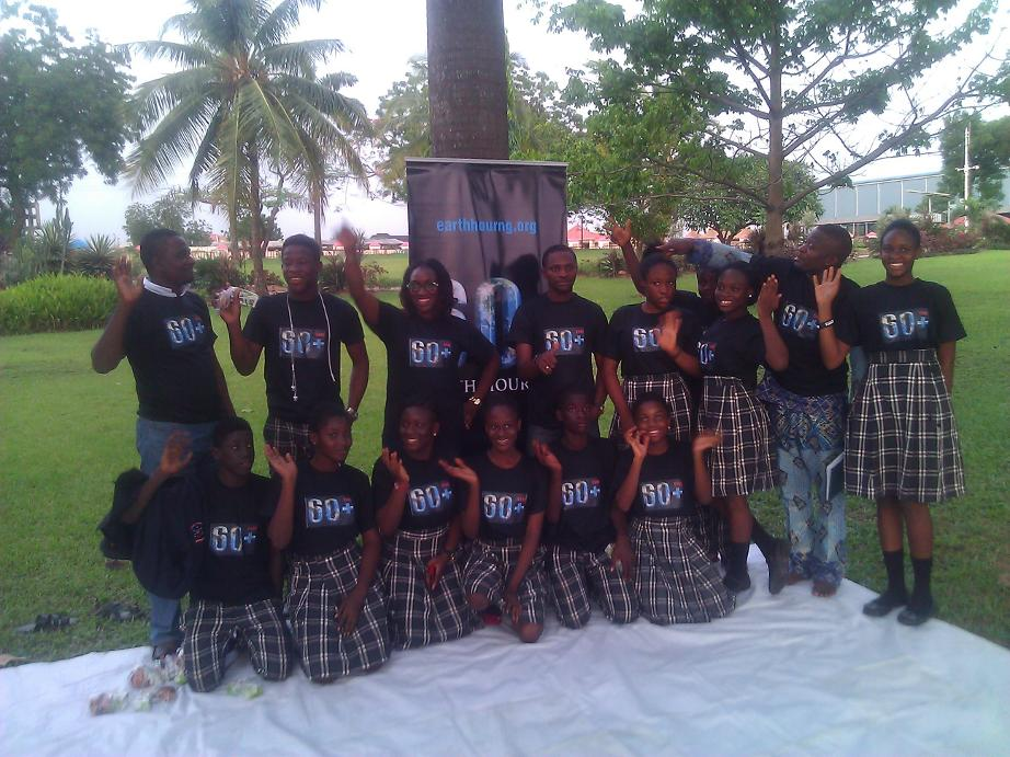 The Earth Hour team in Lagos