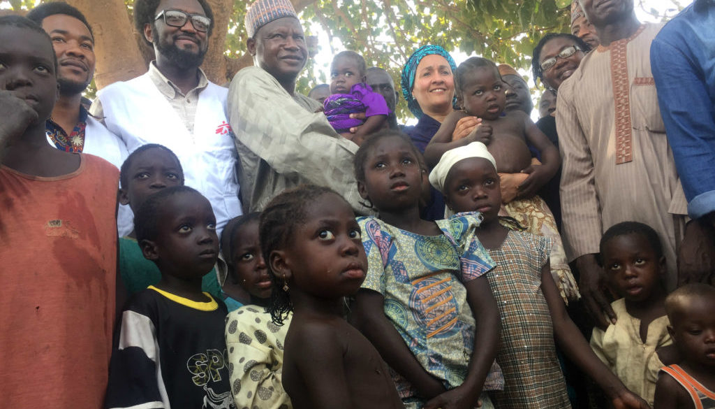 Children with Amina Mohammed