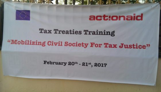 Tax Treaty. Training by ActionAid. My Experience.
